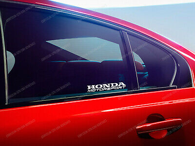 2 x Honda Motorsport Stickers for Windows Accord Civic CR-V HR-V FR-V Prelude