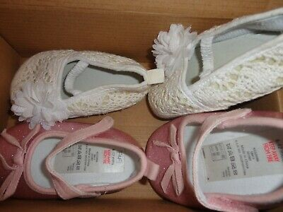 2 Pairs of Girls 6-12 months party shoes