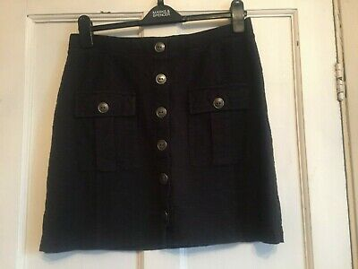 Ladies Black Mini Stretch Pull On Skirt from Next Size 14