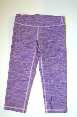 Ivivva Crop Capri Leggings Heather Purple Stretch Size 8