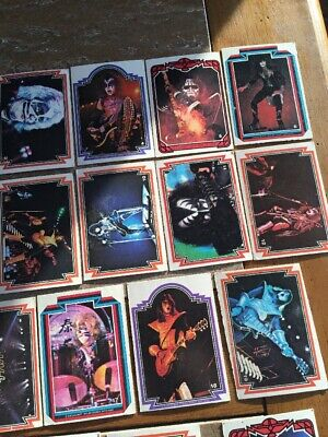 Kiss Cards Near Complete Set Series 1 Trading Cards 1978 VG
