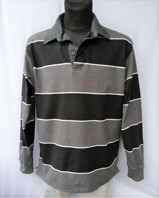 GANT Men's  Multi Color Stripe 100% Cotton Long Sleeve Polo Shirt Size 2XL
