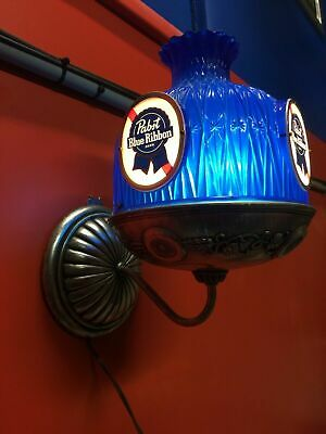 Pabst Blue Ribbon Vintage PBR Beer Wall Sconce Light Made In USA