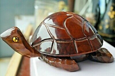 Vintage handmade Decoy Box Turtle Hand-carved
