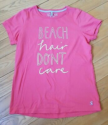 Immaculate - Joules Girls Coral Pink Logo Short Sleeve T-Shirt Age 11-12 Years