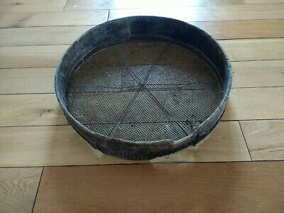Old Large Wood Wooden Grain Sifter Screen Strainer Sieve Old Wooden Decoration