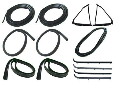 Door Seal Window Sweeps Channel Kit for 87-91 Ford Truck