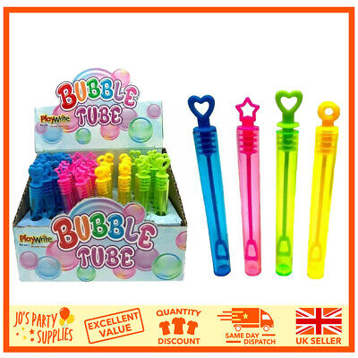 Childrens Kids Girls Boys Bubble Tubes Tubs Party Bag Fillers Wedding Favours