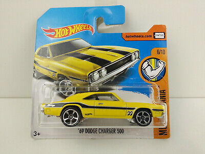 Hot Wheels 2017/' 69 Dodge Charger 500 amarillo muscle Mania 6//10 dty89