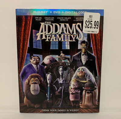 The Addams Family (Blu-ray + DVD + Digital w/ Slipcover 2020) NEW FAST SHIPPING!