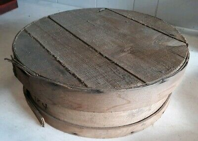 4 Primitive Antique Small Pantry Cheese Boxes Finger Folded Joint Pat 1914