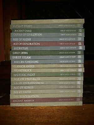 Great Ages of Man 20 Book Lot Time Life Books