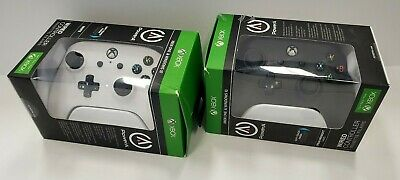 Set of 2 PowerA XBOX ONE Wired Controller-  BLACK & WHITE -CLEAN Ships FREE 🚀