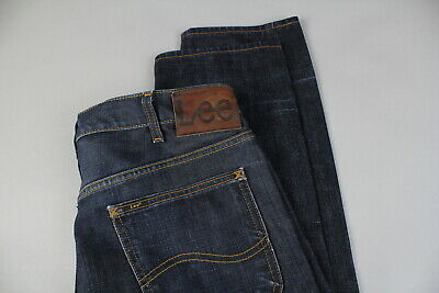 Da Uomo Lee Daren Regular slim fit low Rise Jean-Scuro Blu Indaco