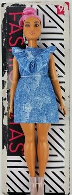 Barbie Fashionistas Doll 95 Blue Jean and Pink Hair loose