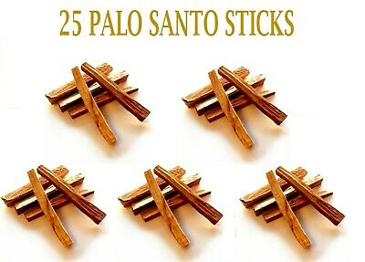 25   PCS  PALO SANTO STICKS (Bursera graveolens) HOLY WOOD INCENSE 4 inches long