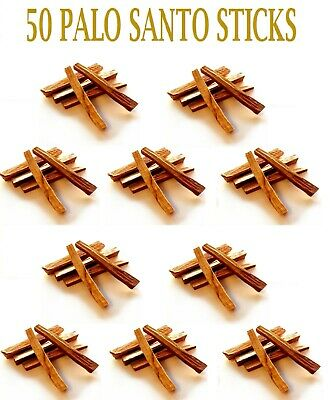 50   PCS  PALO SANTO STICKS (Bursera graveolens) HOLY WOOD INCENSE 4 inches long