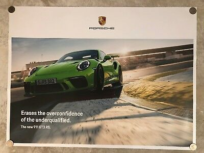 Awesome L@@K 2004 Porsche 911 GT3 Cup Coupe Showroom Sales Poster RARE!