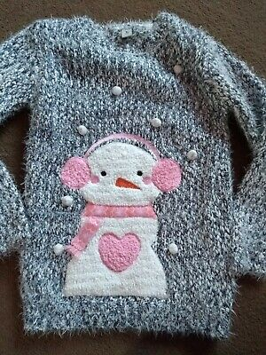 Girls Winter Christmas Musical Music Jumper Size Age 11 Years