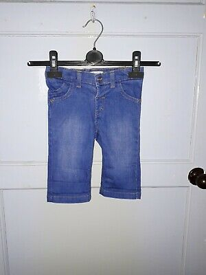 Girls M&S  Indigo Cropped Jeans Blue Age 2 - 3 Years