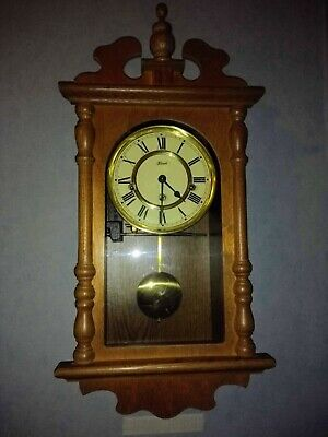 Hermle Wind-up pendulum Wall Clock with Westminster Chimes.
