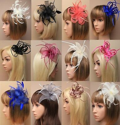 Wedding/Races/Ascot Flowers Looped Ribbon Hair Fascinator Clip/Comb/Headband