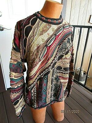 Tundra Canada 90'S Coogi Style Abstract Cosby 3D Sweater Size Large