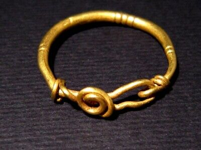 Extremely Rare Celtic Solid Gold Earring, Coiled Spiral Type+++