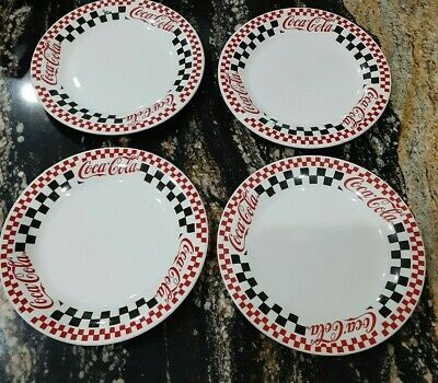 4 Coca Cola Plates 1997 Gibson  Vintage Pre-owned