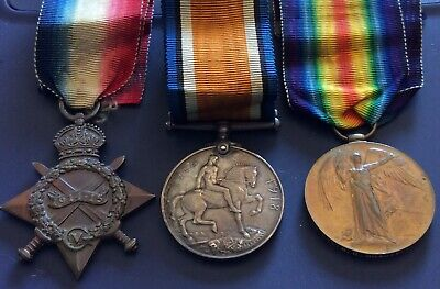 Ww1 Trio Medals Kia Somme 3-6-1916 Yorkshire L. Inf