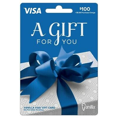 $100 GIFT Card. Ready to Use! No Additional Fees! Free Shipping!!