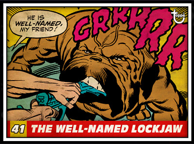 2020 VINTAGE PANELS WAVE 4 THE WELL-NAMED LOCKJAW #41 Topps Marvel Collect