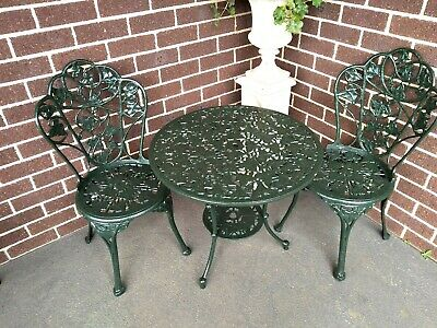 Vintage Outdoor Cast Metal Table And Chairs Patio Chairs And Table Garden