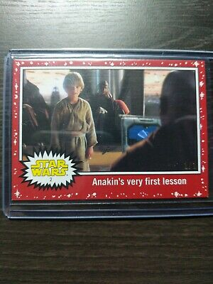 2019 Topps Journey To Star Wars: The Last Jedi. Anakin's Very First Lesson 1/1!!