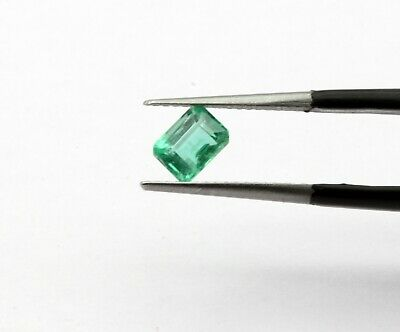 0.81 Ct Natural Emerald Top Grade Luster Green Color Gemstone Loose No Heat