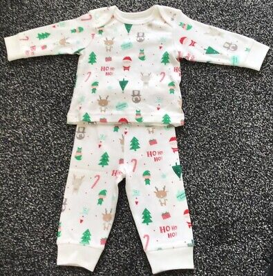 Mothercare Baby Girls Christmas Pyjamas Up To 3 Months Up To 6.5 Kg New
