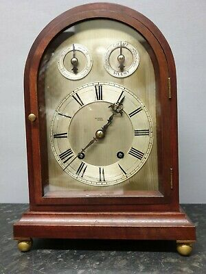 Vintage W J Carroll of London 8 Day Table Clock with 1/4 Hour Ting Tang Strike