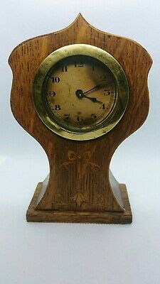 Small Victorian Inlaid Wooden Clock. Beautiful Piece. Spares/Repairs