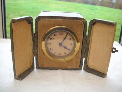 Vintage Travel Clock In Its Case In G.w.o.