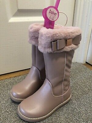 Ted Baker Girls Infant Boots Shoes Size 8 Pink