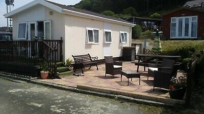 chalet for hire 2 berth in clarath bay village walesnext to beach.