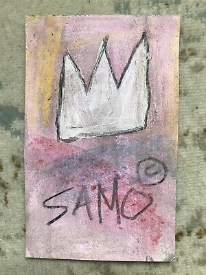 Jean-Michel Basquiat SAMO CROWN Original Postcard