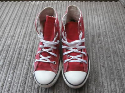 Converse All Star  Uk 13.5 , Kids  Red  Hi Top Boots