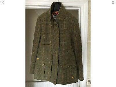 Joules Green Tweed Field Coat Size 16.. ONLY WORN ONCE..  Mr. Toad..£229 Paid..