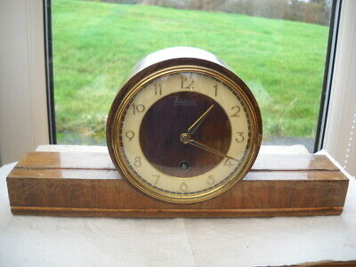 German Mantel Clock, Working But Offered For Spares.