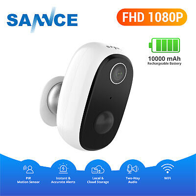 SANNCE 1080P Wireless Smart Power Battery CCTV IP Camera Cloud Storage Security