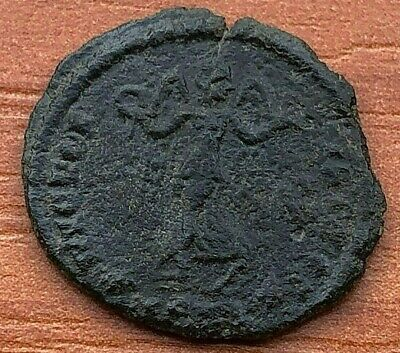 """Constantius II 347-355 AD AE Follis """"Victory and Chi-Rho"""" Ancient Roman Coin"""