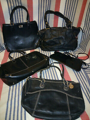 Job Lot of 5 Black Handbags