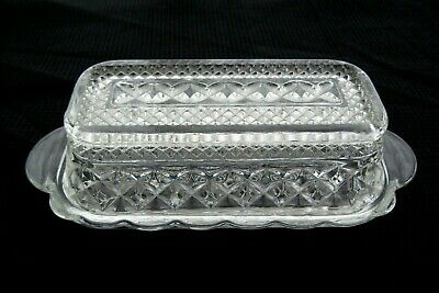 Anchor Hocking Glass Clear Wexford Quarter Pound Covered Butter Dish