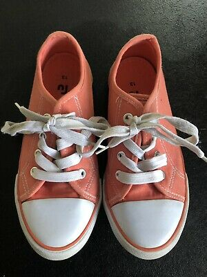 Peach Pink Trainers Pumps Size 13 Girls'